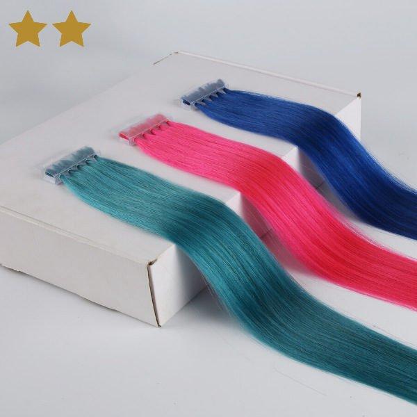 Hait Extensions in blau, türkis und pink