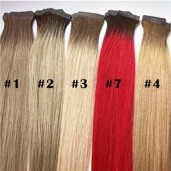 Premium Extensions aus Echthaar in Blond und rot