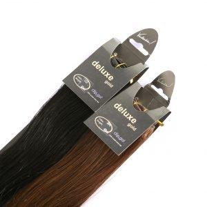 ClipIN Extensions in schwarz und braun