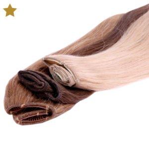 Hair Extensions in braun, dunkelbraun und hell