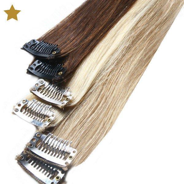 Hair Extensions in blond, braun und hellblond
