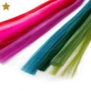 Hair Extensions in grün, blau, rot, pink und violet