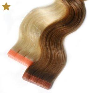 Tape It Extensions in blond und braun