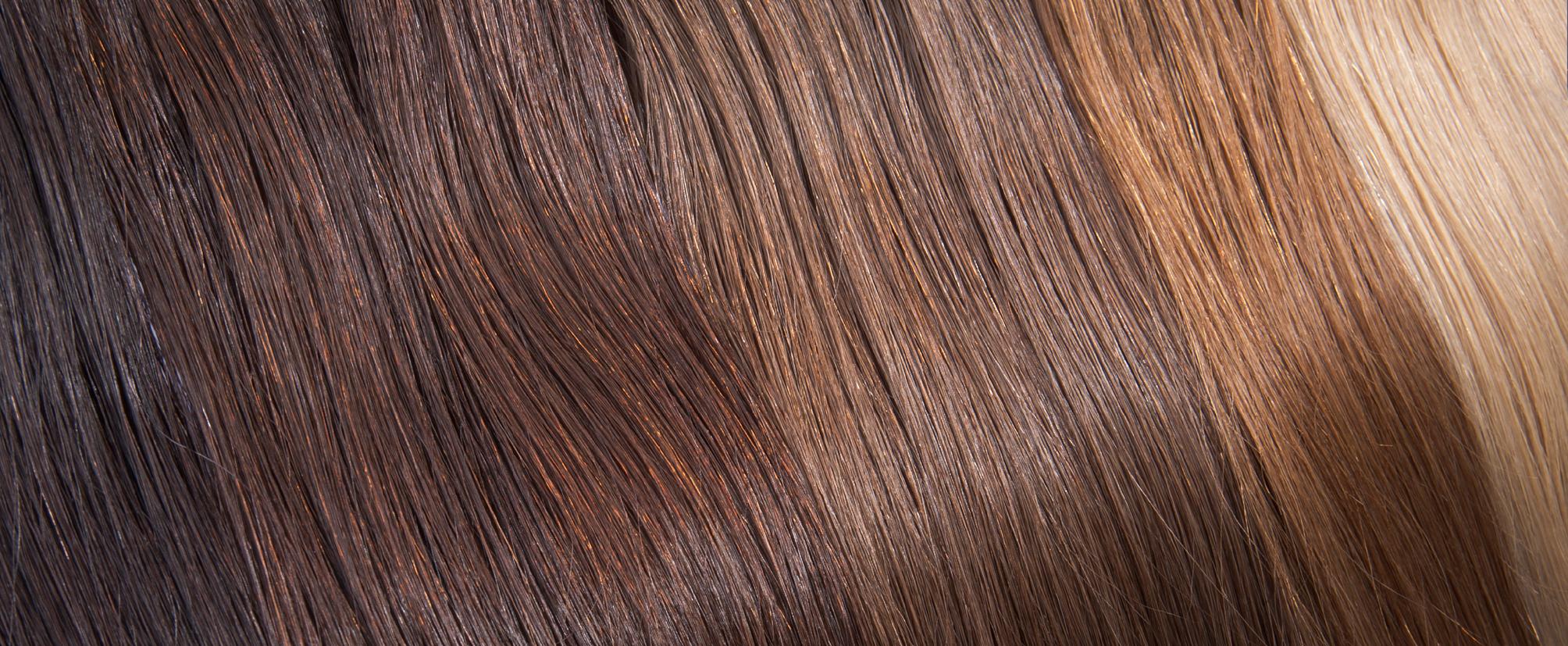 Extensions in verschiedenen Haarfarben