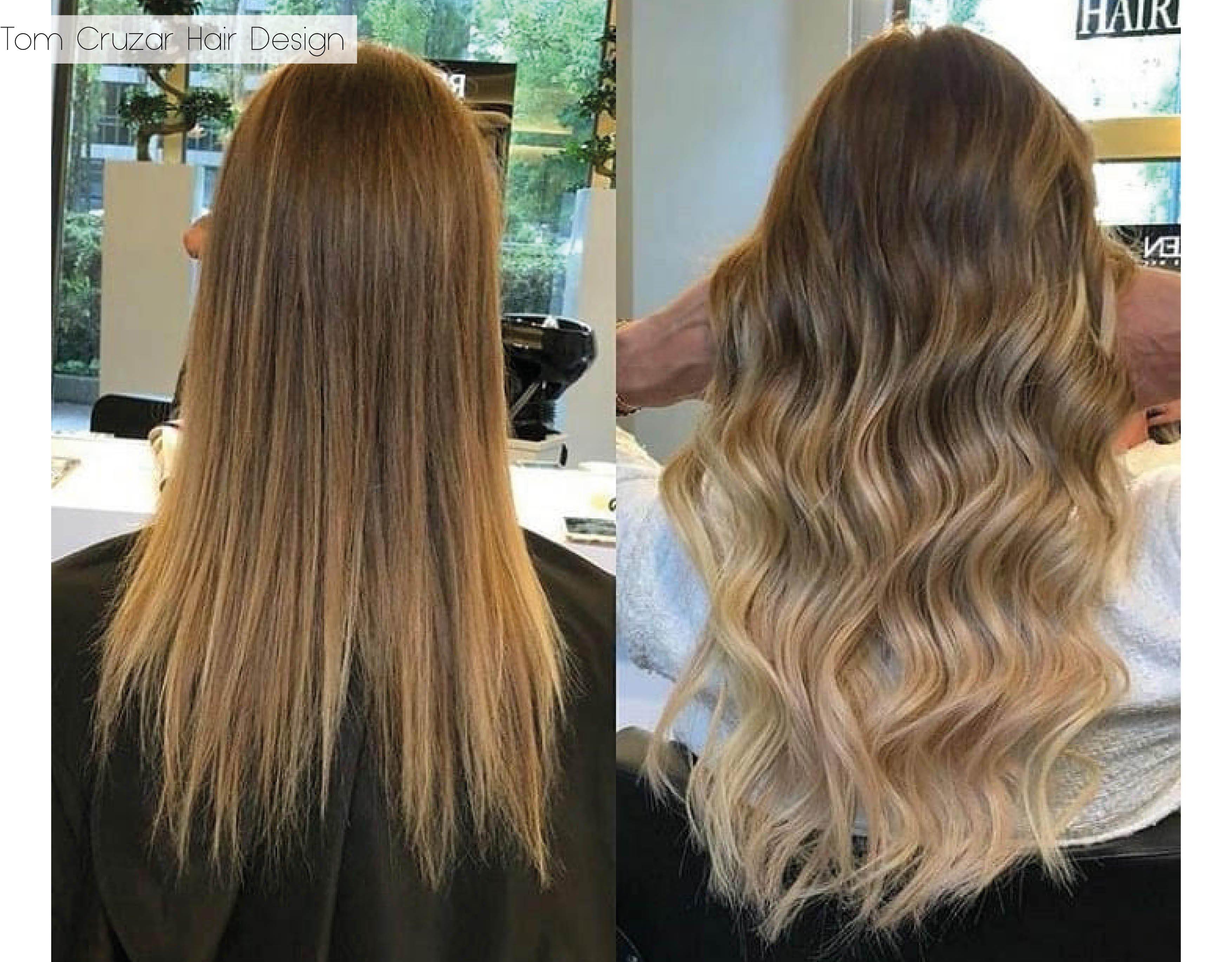 Haarverdichtung. Vorher und Nachher