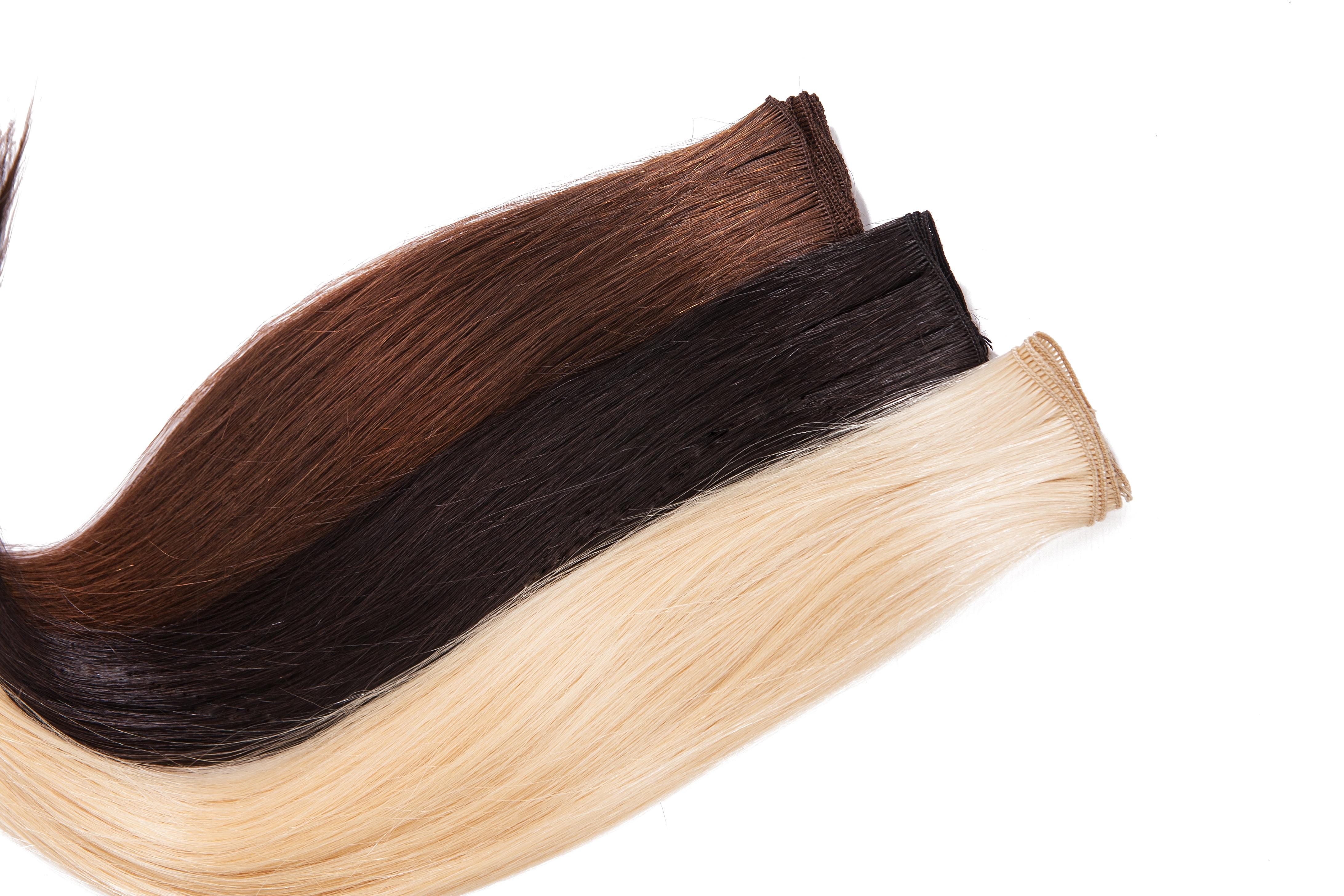 WeaveIT Tressen von Verlocke in schwarz, braun und blond