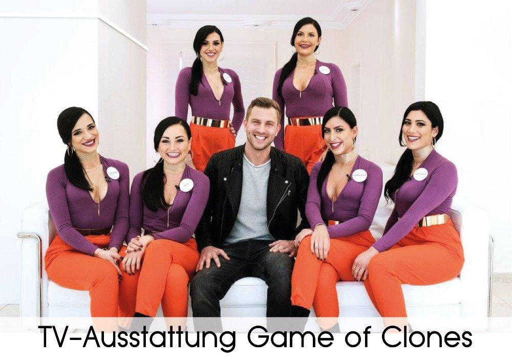 TV-Ausstattung Game of Clones - Sponsor von Verlocke