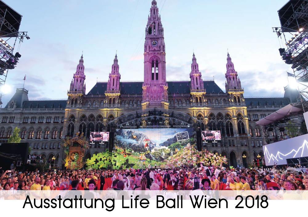 Ausstattung Life Ball Wien - Sponsor von Verlocke