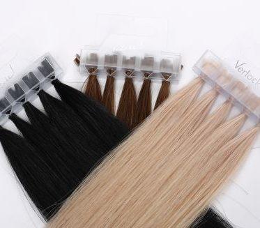 Verlocke-Extensions in schwarz, braun und blond