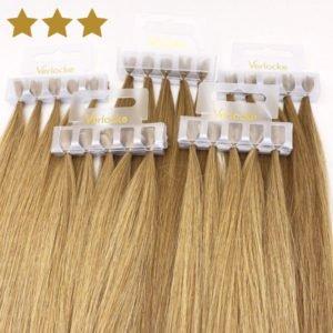 Strähnen aus Echthaar blond