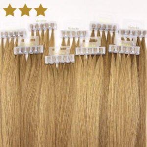 Haarverdichtung von Verlocke blond
