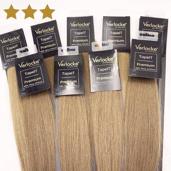 Hait Extensions Strähnen blond